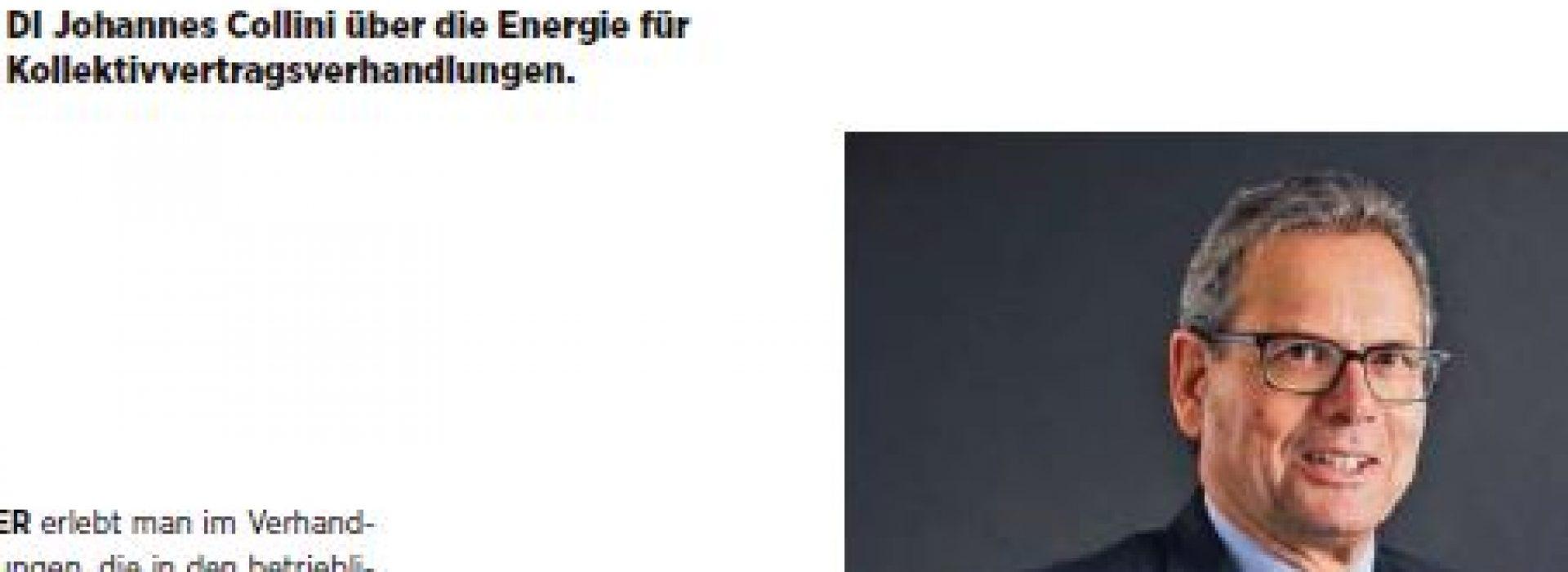 01/2019: Johannes Collini über seine ...